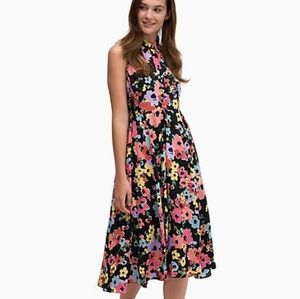 Kate Spade floral bouquet midi dress